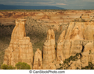 Colorado National Monument is a part of the National Park...