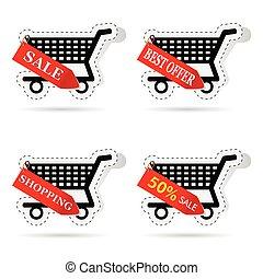 basket label vector illustration