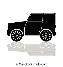 car in black color vector