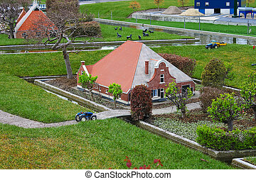 Madurodam - miniature city near Hague in Netherlands