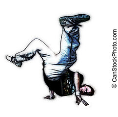 breakdancer - illustration of breakdancer