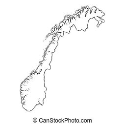 Norway outline map