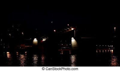 Drawbridge - The drawbridge night time lapse
