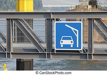 lift bridge sign