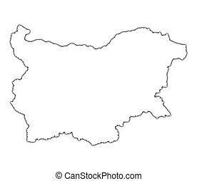 Bulgaria outline map
