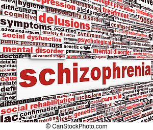 Schizophrenia message concept. Mental disorder concept