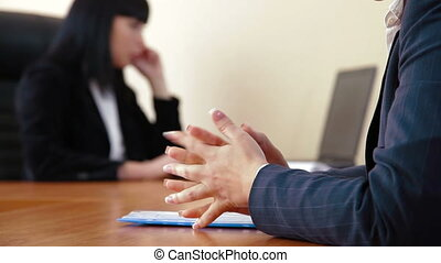 Unfriendly Business Relationships - Unfriendly businesswoman...