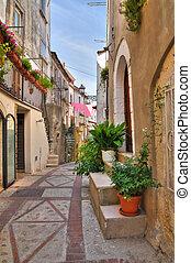Alleyway Vico del Gargano Puglia Italy