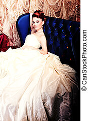 luxurious - Beautiful bride in a luxurious restaurant...