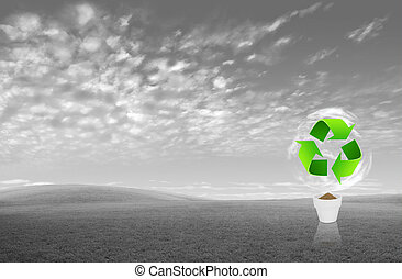 Recycle sign for green eco concept
