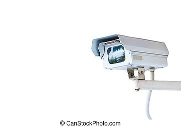Security Camera or CCTV isolated on white background