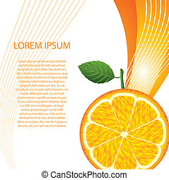 orange fruit with space for copy. vector illustration