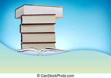 Book on the blue background