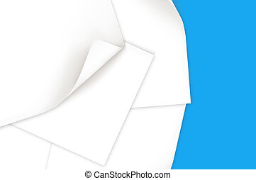 Paper with curl edge