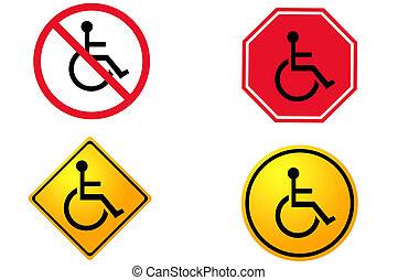 disabled and handicap icon sign