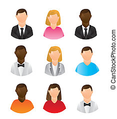 people icons isolated over white background. vector...