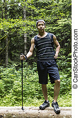 Young Asian Man Hiker