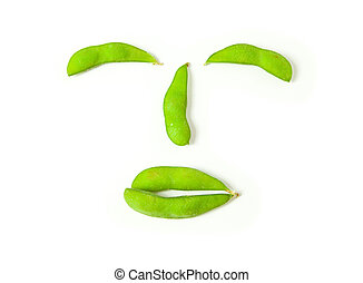 green bean isolated on white background