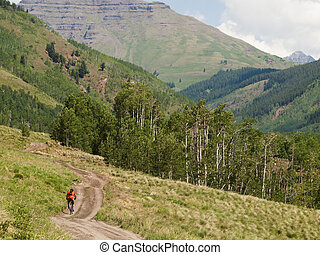 Mountain Biker - Mountain biking in Crested Butte, Colorado.