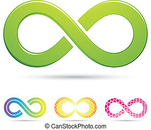 sleek infinity symbols - Vector illustration of sleek style...