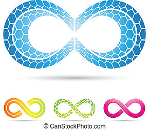 infinity symbols with mosaic pattern