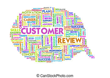 Business word inside speech bubble, customer service
