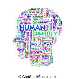 Word cloud business concept, human resource
