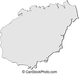 Map of Hainan (China) - Map of Hainan, a province of China.