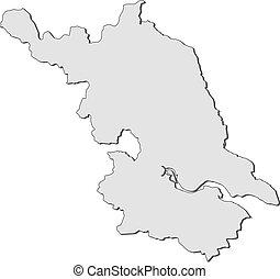 Map of Jiangsu (China) - Map of Jiangsu, a province of...