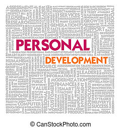 Word cloud for personal development concept
