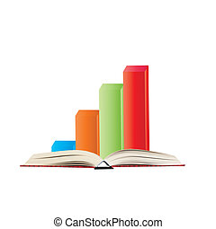 3d bar graph on the book