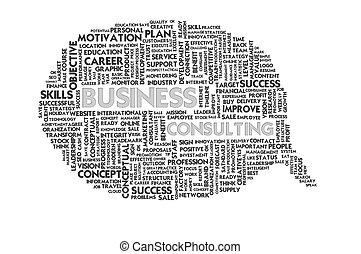 Business word inside speech bubble,Business concept