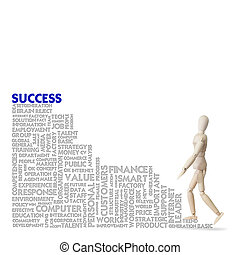 Wooden model climbs the ladder of success business and...