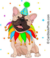 French bulldog%u2019s Birthday - French bulldog celebrating...