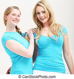Two young female friends
