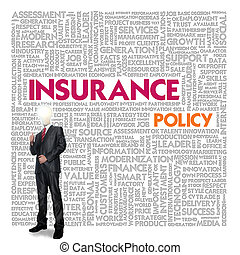 Business word cloud for business and insurance concept, policy