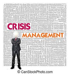 Business, mot, nuage, Business, concept, crise, gestion