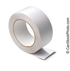 adhesive tape - a roll of white adhesive tape