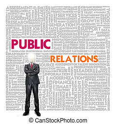 Business word cloud for business concept, Public relations