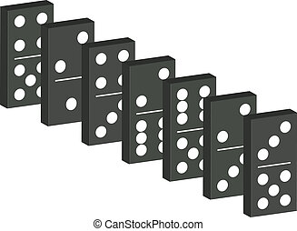 Domino in black design isolated on white background