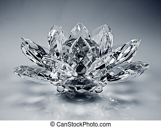crystal flower - a flower made of crystal