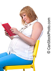 Pregnant Woman with Book