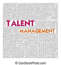 Business word cloud for business concept, Talent Management