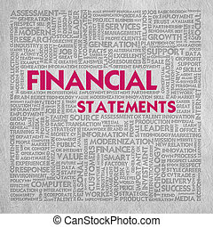 Business word cloud for business concept,financial statement