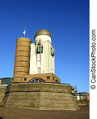 Swansea Observatory - Swansea beach show the Observatory