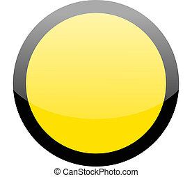Blank circle yellow hazard warning sign on white