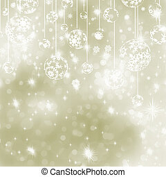 Elegant gold christmas background. EPS 8