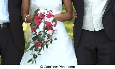 Wedding Couple - video footage of a wedding couple
