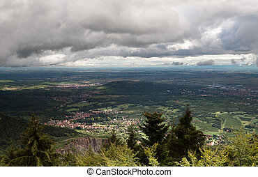 Alsace valley - Valley below Mont Sainte Odile monastery...