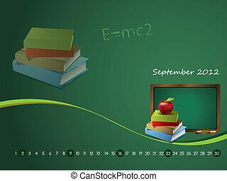 Calendar wallpaper for 2012 - September